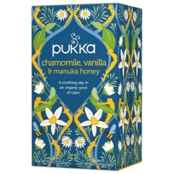 Pukka Chamomile, Vanilla, Manuka Honey 20 saszetek