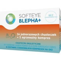 Softeye Blepha Plus chusteczki okulistyczne 14 sztuk + ogrzewalny kompres