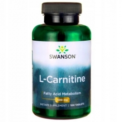 SWANSON L-Karnityna 500mg 100 tabletek