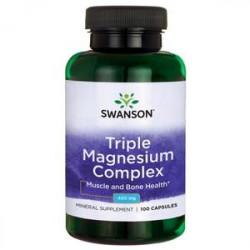 SWANSON Triple Magnesium Complex 100 kapsułek