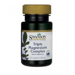 SWANSON Triple Magnesium Complex 400mg 30 kapsułek