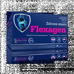 Flexagen smak malinowy 30 saszetek Uszkodzone opakowanie