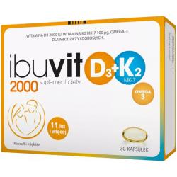 Ibuvit D3 2000 + K2 MK-7 Omega 3 30 kapsułek