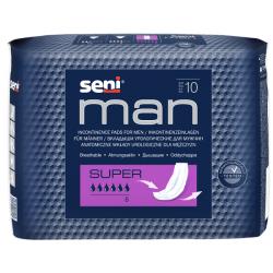 Seni Man Super Anatomiczne wkłady urologiczne dla mężczyzn 10 sztuk