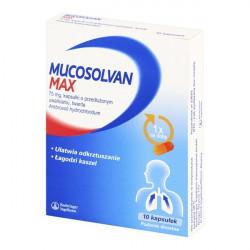 Mucosolvan Max 75mg 10 kapsułek