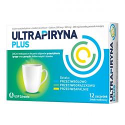 Ultrapiryna Plus 500mg + 300mg + 200mg smak malinowy 12 saszetek