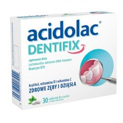 Acidolac Dentifix smak miętowy 30 tabletek