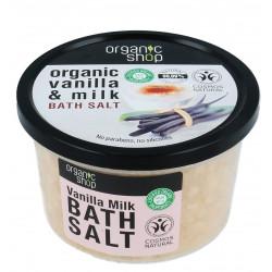 ORGANIC SHOP Sól do kąpieli Mleko waniliowe 250ml