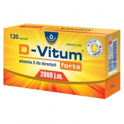 D-Vitum Forte 2000 j.m. Dla dorosłych 120 kapsułek