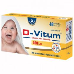 D-Vitum witamina D dla niemowląt 400j.m., 48 kapsułek twist-off