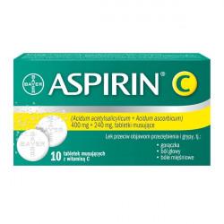 Aspirin C  10 tabletek