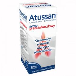Atussan syrop 1,5 mg/ml smak pomarańczowy 150ml