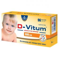 D-Vitum Witamina D dla niemowląt od 6 miesiąca życia 600j.m. 96 kapsułek
