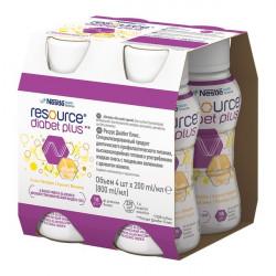 Resource Diabet Plus Smak waniliowy 4x200ml