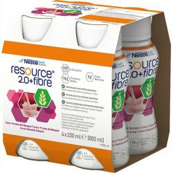 Resource 2.0 Fibre Smak owoców leśnych 4x200ml