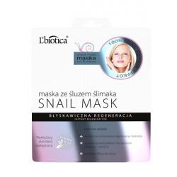 L'Biotica Maska na tkaninie ze śluzem ślimaka Snail Mask 23ml