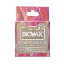 L'Biotica Biovax Szampon w kostce malina, róża i baicapil 82g