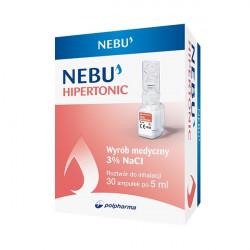 Nebu Hipertonic chlorek sodu NaCl 3%, roztwór do inhalacji, ampułki, 30x5ml 31.03.2020 r.