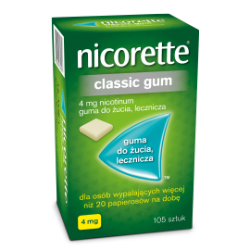 NICORETTE Classic Gum 4mg, 105 sztuk