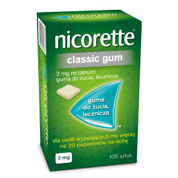 NICORETTE Classic Gum 2mg 105 sztuk