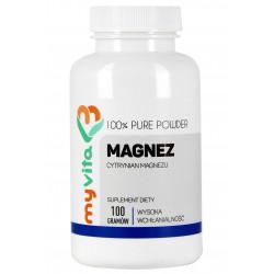 MyVita Magnez (cytrynian) proszek 100g