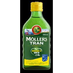Moller's Tran Norweski Cytrynowy Płyn 250ml
