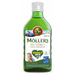 Moller's Mój Pierwszy Tran Norweski 250ml, Data ważności: 30.11.2021 r.