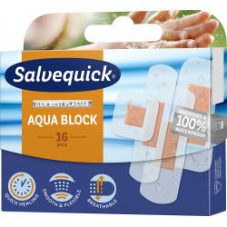 Plastry Salvequick Aqua Block 1 Opakowanie (16 sztuk)