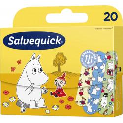 Salvequick Plastry z opatrunkiem Muminki 1 Opakowanie (20 sztuk)