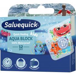 Plastry Salvequick Aqua Block Kids 1 Opakowanie (12 sztuk)
