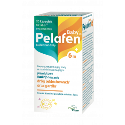 Pelafen Baby 6m+ Smak owocowy 20 kapsułek Phytopharm