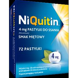 Niquitin 4 mg smak miętowy 72 pastylki do ssania