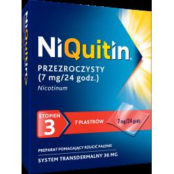 NiQuitin 7mg/24h 7 plastrów przezroczystych
