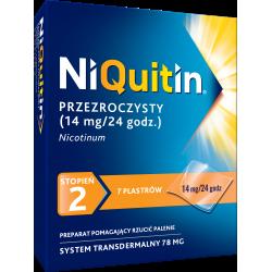 NiQuitin 14mg/24h, 7 plastrów przezroczystych