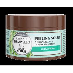 GlySkinCare Organic Peeling solny z organicznym olejem konopnym 400g Diagnosis