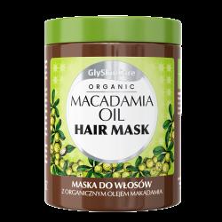 GlySkinCare Organic Maska do włosów z olejem makadamia 300ml