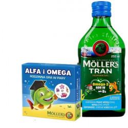 Moller's  Tran owocowy 2x 250ml + Gra gratis