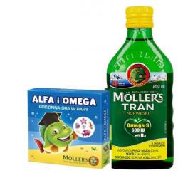 Moller's Zestaw Tran cytrynowy 250ml + Tran cytrynowa 250ml + Gra gratis