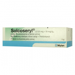 Solcoseryl 2,125mg+10mg/g Pasta do stosowania w jamie ustnej 5g