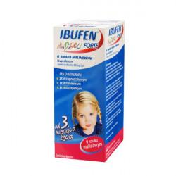 Ibufen dla Dzieci Forte o smaku malinowym 200mg/5ml od 3 miesiąca 40ml