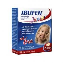 Ibufen Junior 200mg od 6 lat 10 kapsułek