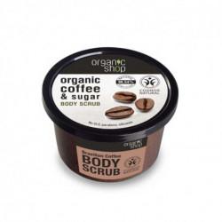 ORGANIC SHOP Cukrowy Peeling Brazylijska Kawa do Ciała 250ml