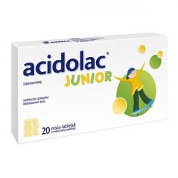 Acidolac Junior Biała Czekolada 20 misio-tabletek