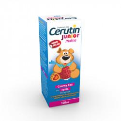 Cerutin Junior Syrop dla dzieci powyżej 3 lat Smak malinowy 120ml