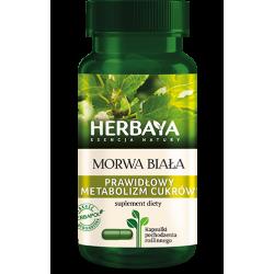 Herbaya Morwa biała prawidłowy metabolizm cukrów 60 kapsułek