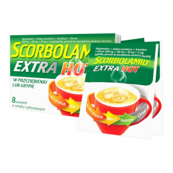 Scorbolamid Extra Hot 300mg + 300mg + 50mg + 5mg 8 saszetek, data ważności: 30.04.2021 r.