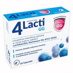 4 Lacti GG 20 kapsułek, data ważności: 2021.02.28