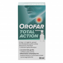 Orofar aerozol  do stos. w jamie ustnej 2mg+1,5mg/ml  30ml
