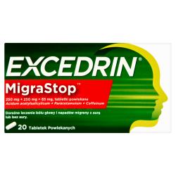 Excedrin Migra Stop 250mg+ 250mg + 65mg 20 tabletek
