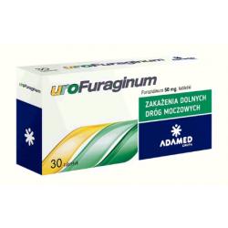 Urofuraginum  50 mg,  30 tabletek